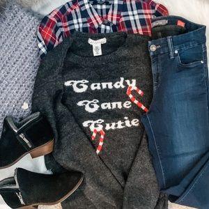 H&M L.O.G.G. Brand Candy Cane Sweater